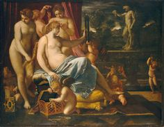 Annibale Carracci Venus Adorned by the Graces 1590/1595 Painting