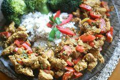Makaron i Rodzynka: Kokosowy kurczak curry.