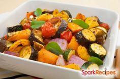 End-of-Summer Roasted Veggies Recipe via @SparkPeople
