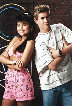 Saved by the Bell | Kelly Kapowski (Tiffany Thiessen) and Zack Morris (Mark-Paul Gosselaar)