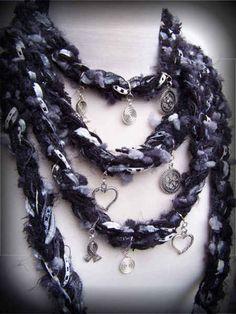 unique crochet scarves 100 Unique Crochet Scarves- inspiration