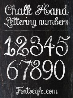 """Chalk Hand Lettering"" font 