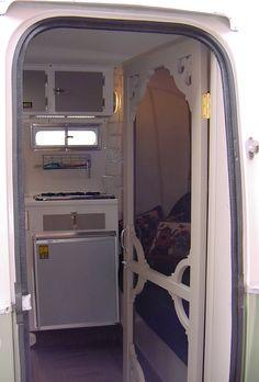 vintage camper screen door