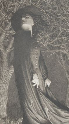 <3 One of my all time favorite book illustrators and Van Allsburg captures a great witch.