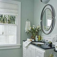mirror, wall colors, color schemes, bathroom vanities, vintage vanity, green bathroom, paint colors, accent piec, cottage bathrooms