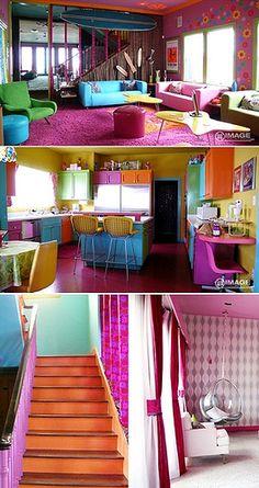 super colorful dream room hello??? love it love love love ittt!!!!!