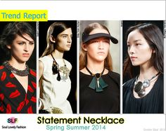 Statement #Necklace Jewellery Trend for Spring Summer 2014  #spring2014 #trends #Jewelry #Jewellery