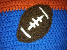 Cherishable Creations: FREE CROCHET PATTERN - Football Applique