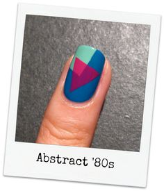 tape mani nail art