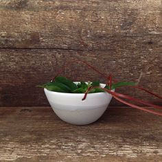 Handmade Hanging Planter with Leather Straps by paperandclaystudio, $42.00