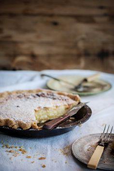 Local Milk   buttermilk pie in a cornmeal & lard crust