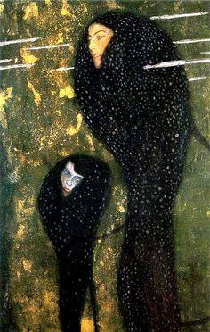Gustav Klimt (Austrian, Art Nouveau, Symbolism, 1862-1918): .  1898. - Google Search