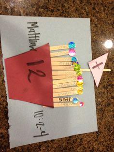 Matthew 10: 2-4 The 12 disciples chosen by Jesus!  Preschool craft