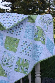 Baby Boy Quilt  in the Backyard Baby by CottonBerryQuilts on Etsy, $125.00