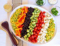 chopped salads, salad recipes, citrus vinaigrett, vegetable trays, food, mexican chop, spice citrus, parti, chop salad
