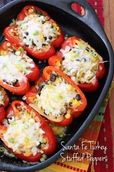 Santa Fe Turkey Stuffed Peppers