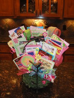 Gift Card Basket! I made this for a teacher's end of year present from the class.