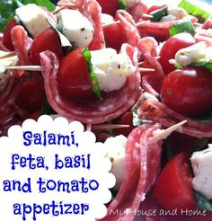 easi appet, party appetizers, tomato, finger foods, mozzarella