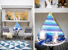 Triangle Themed party : Emily Henderson Baby Shower
