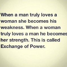 Exchange of power... wow