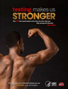 Your #HIV status is powerful information. Stay strong. Stay informed. Get #tested.  Testing Makes Us Stronger, a national HIV testing campaign, is part of the Act Against AIDS initiative and is produced by the Centers for Disease Control and Prevention (CDC). www.cdc.gov/actagainstaids