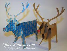 Qbee's Quest: 3D Reindeer Tutorial