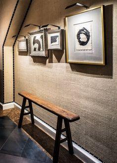 Burlap wallcovering. (Antonio Martins The Atelier, Remodelista)