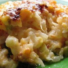 Loaded Cauliflower Casserole - Looks delicious. Could be a yummy 'S' Meal on the THM plan!