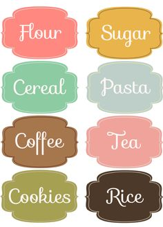 Free downloadable printable labels for your pantry and - Can be edited!!