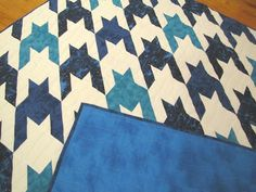Houndstooth Blues Quilt
