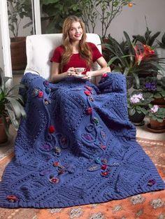 Knitting Patterns Galore - Garden Fantasy Afghan