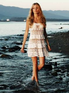 Crochet Dress  Isn't this lovely?