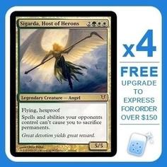 Sigarda Host Of Herons X4 Avacyn Restored Magic Mtg Mint Card - product summary - Bing Shopping