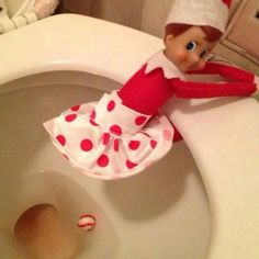 pearl, toilet, candi, elf on shelf, mint, candy canes, elv, christma, kid