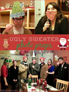 Ugly Sweater Party Photo Props - Mad in Crafts
