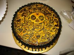 Pirates of the Caribbean Medallion Cake