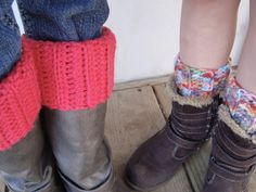 A free pattern found at Tangled Happy... Ribbed Boot Cuffs! Perfect for fall. ♥