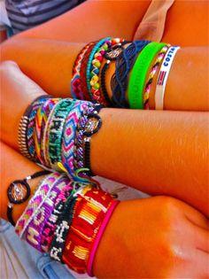 string bracelets in the summer!