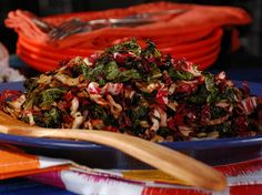 Sauerkraut-Style Grilled Radicchio and Kale Recipe : Bobby Flay : Food Network - FoodNetwork.com