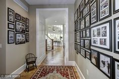 A perfect way to use picture frames to decorate a hallway. Centreville, MD Coldwell Banker Residential Brokerage