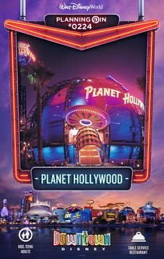 Walt Disney World Planning Pins: Planet Hollywood
