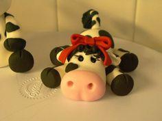 Fondant Cow Cake Topper