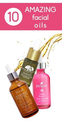 10 amazing facial oils.