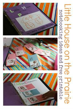 Little House on the Prairie Notebooking Ideas and Free Printable
