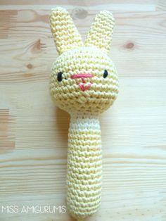 Sonajero amigurumi Bunny <3
