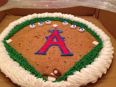 A's Baseball Cookie! I want to it on a cake for decoration
