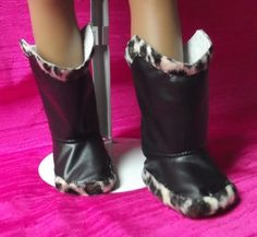 18inch Doll small Cheetah and Black Boots