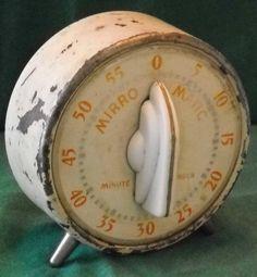 Vintage Mirro Matic Minute Minder Kitchen Timer Lux   eBay