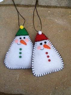 Snowman Felt Doll/Ornament. $7.99, via Etsy.