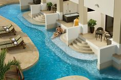 A swim out suite at #SecretsResorts Wild Orchid in Jamaica